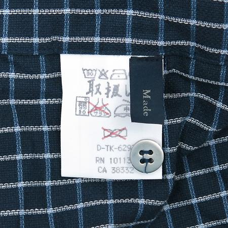 Zegna(제냐) 네이비컬러 블럭스트라이프 셔츠 이미지4 - 고이비토 중고명품