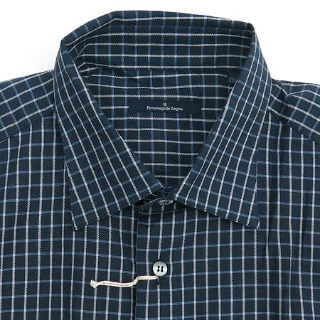 Zegna(제냐) 네이비컬러 블럭스트라이프 셔츠 이미지2 - 고이비토 중고명품