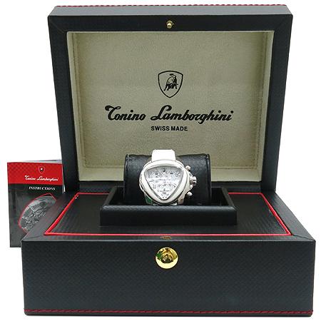 Lamborghini (람보르기니) 코사 lll 크노로그래프 남여공용 가죽 밴드 시계