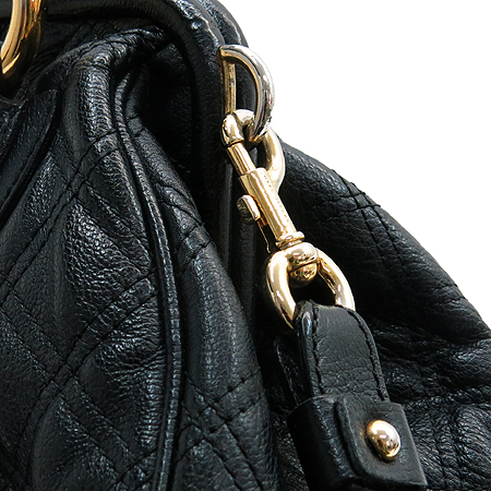 Marc_Jacobs(마크제이콥스) 금장 체인 장식 블랙 레더 퀼팅 스탐백 2WAY