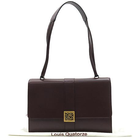 Louis_Quatorze(루이까또즈) 금장 로고 장식 레더 숄더백