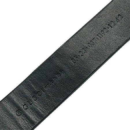 Gucci(구찌) 037 1192 GG 로고 은장 버클 블랙 레더 여성용 벨트[부천 현대점]