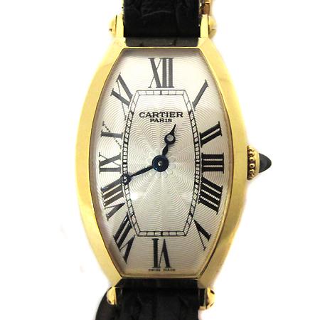 Cartier(까르띠에)  18K 골드 금통 토너 DD 클립 가죽 밴드 수동 여성용시계 [부천 현대점]