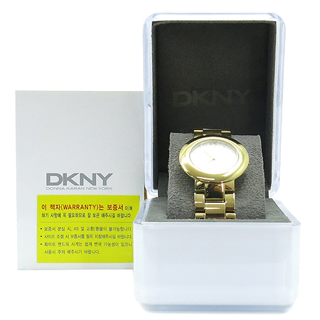 DKNY(도나카란) NY4876 금장 라운드 남여 공용 시계