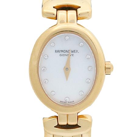 RAYMOND WEIL(레이몬드웨일) 5889 12포인트 다이아 자개판 금장 여성용 시계