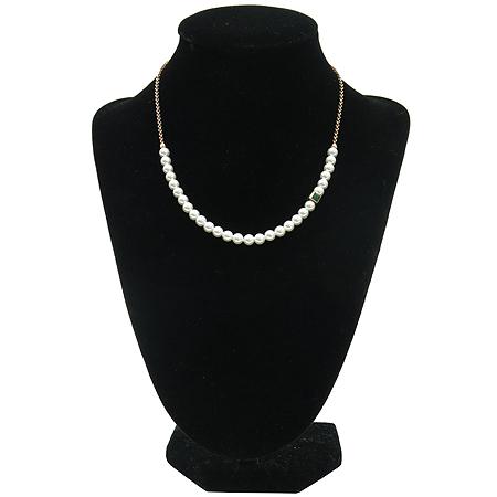 J.ESTINA(제이에스티나) 925 (실버) 커스텀 진주 장식 목걸이 + 귀걸이 세트 이미지2 - 고이비토 중고명품