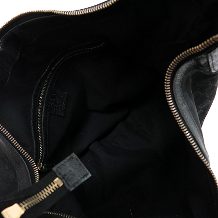 Gucci(구찌) 131168 블랙 GG 로고 자가드 호보 숄더백