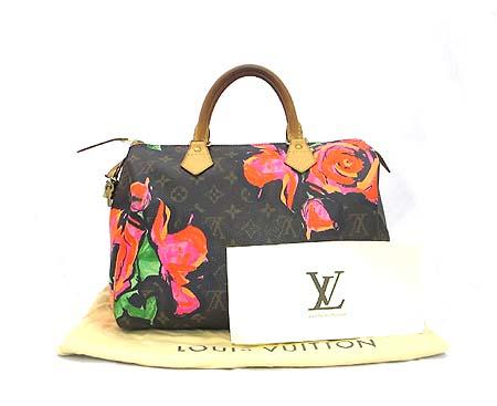 Louis Vuitton(루이비통) M48610 모노그램 캔버스 스테판 스프라우스 컬렉션 로즈 스피디 30 토트백