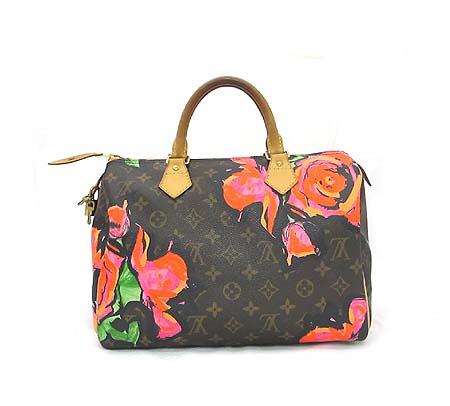 Louis Vuitton(루이비통) M48610 모노그램 캔버스 스테판 스프라우스 컬렉션 로즈 스피디 30 토트백 이미지2 - 고이비토 중고명품