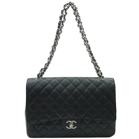 Chanel(샤넬) A47600Y01588 클래식 캐비어스킨 맥시사이즈 은장체인 숄더백 [인천점]