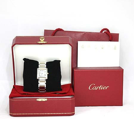 Cartier(까르띠에) W51012Q4 탱크 프랑세즈 M사이즈 18K콤비 스틸밴드 남녀공용 시계 [명동매장]