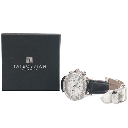 TATEOSSIAN(타테오시안) 베젤 크리스탈 장식 크로노그래프 여성용 시계 [강남본점]