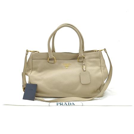 Prada(프라다) BR4393 베이지 레더 금장 로고 2WAY