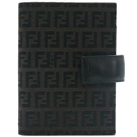 Fendi(펜디) 7A0011 00NY2 F0RQ5 FF로고 쥬카 패브릭 블랙래더 혼방 다이어리
