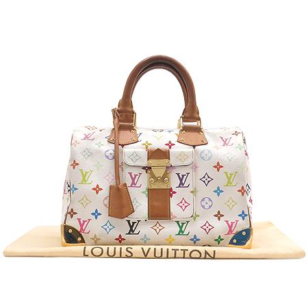 Louis Vuitton(루이비통) M92643 모노그램 멀티 화이트 스피디30 토트백 [대구반월당본점]