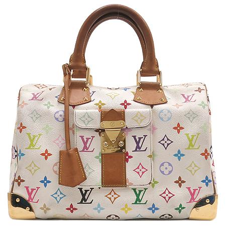 Louis Vuitton(루이비통) M92643 모노그램 멀티 화이트 스피디30 토트백 [대구반월당본점] 이미지2 - 고이비토 중고명품