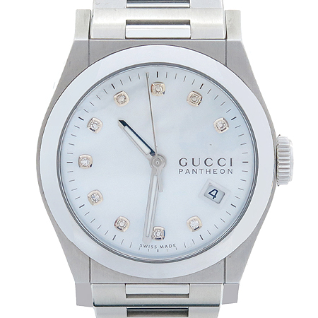 Gucci(구찌) PANTHEON(판테온) 10포인트 다이아 자개판 스틸밴드 남여공용 시계