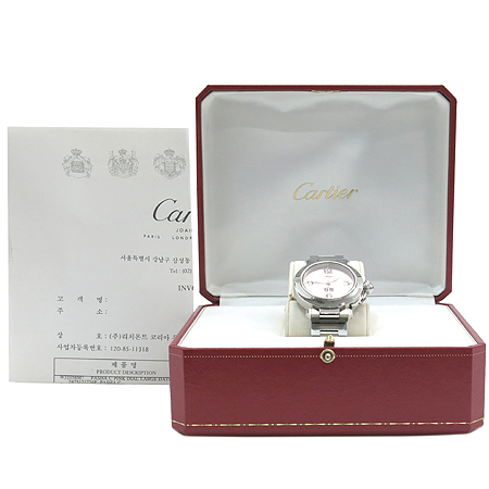 Cartier(까르띠에) W31058M7 PASHA(파샤) 라운드 스틸 35MM 오토매틱 남여공용 시계