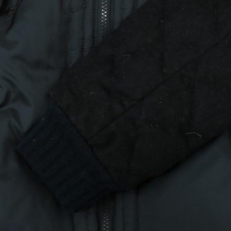 O'2nd(오즈세컨) 블랙,네이비컬러 퀄팅 후드 점퍼 (충전제:오리솜털80,깃털20 / 배색:양가죽100) [동대문점]