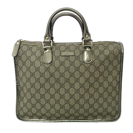 Gucci(구찌) 190259 GG 로고 메탈 브론즈 PVC 토트백