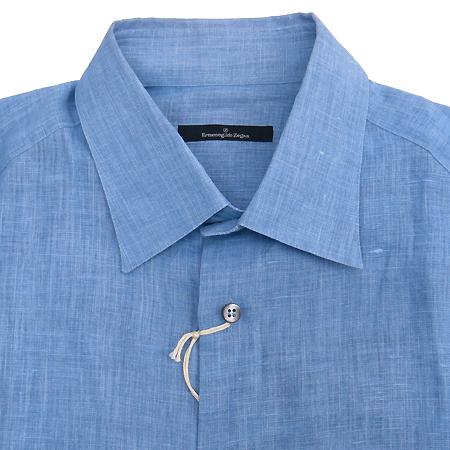 Zegna(제냐) 블루 마혼방 셔츠  [부산본점]