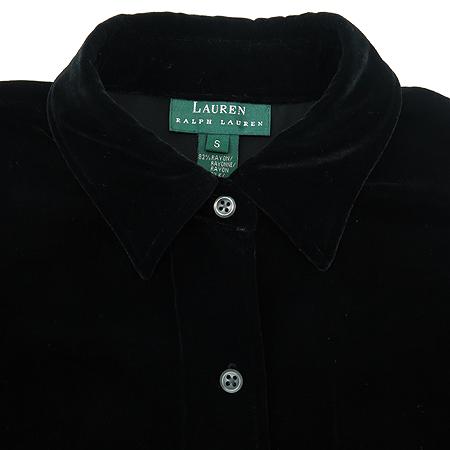 Polo Ralphlauren(폴로) 블랙컬러 실크혼방 벨벳 포켓 브라우스
