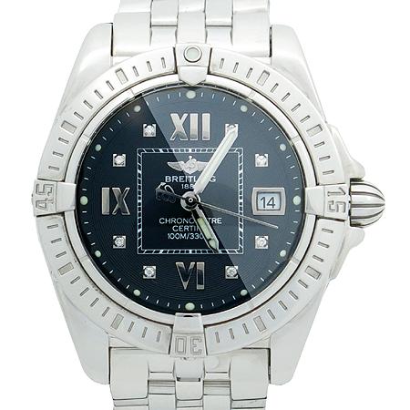 BREITLING(브라이틀링) A71356 GALACTIC 8포인트 다이아 쿼츠 여성용 스틸 시계
