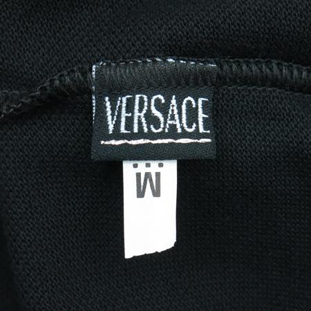 Versace(베르사체) 블랙컬러 카라 반팔 티