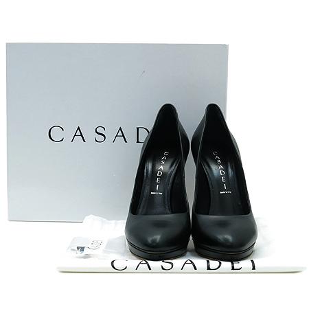 CASADEI(카사데이) 3506R158 가보시 블랙 레더 펌프스 여성 구두