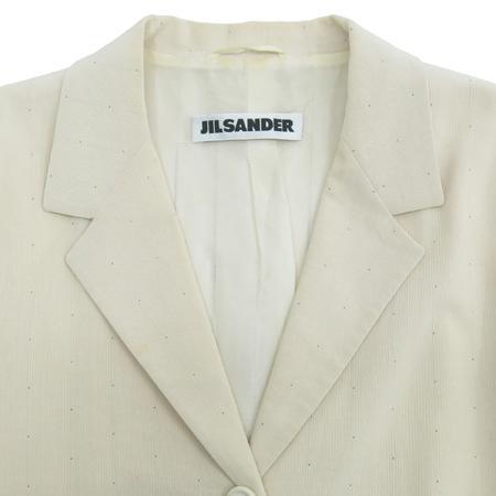 Jilsander(질샌더) 아이보리 컬러 파워 숄더 자켓 이미지2 - 고이비토 중고명품