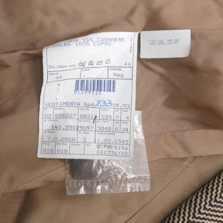 GIORGIO ARMANI(조르지오 아르마니) 브라운 컬러 캐시미어 혼방 헤링본 자켓 이미지4 - 고이비토 중고명품