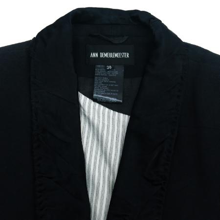 ANN DEMEULEMEESTER(앤 드뮬미스터) 블랙 컬러 자켓