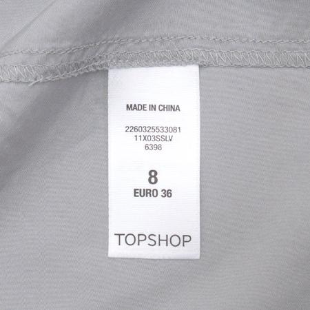 TOPSHOP(탑샵) 그레이 컬러 실크 자켓 이미지4 - 고이비토 중고명품