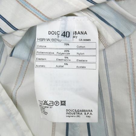 DOLCE & GABBANA(돌체&가바나) 스트라이프 패턴 남방