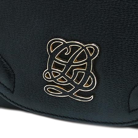 Louis_Quatorze(루이까또즈) 블랙 레더 금장 로고 장식 숄더백