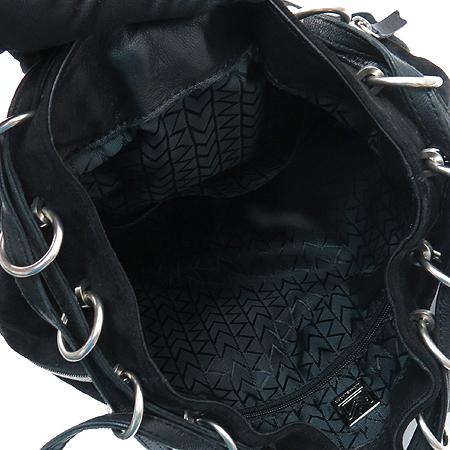 MICHAELKORS(마이클코어스) 지퍼 장식 블랙 스웨이드 레더 복조리 숄더겸 크로스백