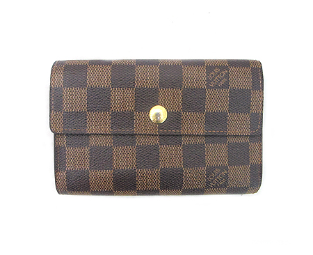 Louis Vuitton(루이비통) N63067 다미에 에벤 캔버스 알렉산드라 월릿 중지갑 [분당매장]