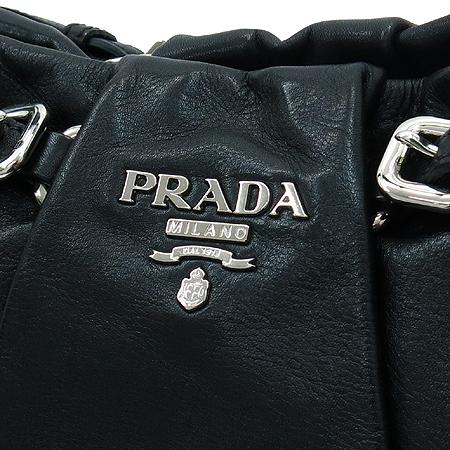 Prada(프라다) BR3795 블랙 레더 호보 숄더백 이미지4 - 고이비토 중고명품