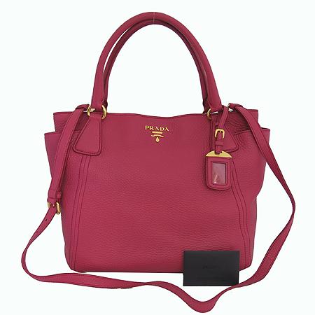 Prada(프라다) BN2435 VIT.DAINO 핑크 컬러 금장 로고 장식 2WAY [일산매장]