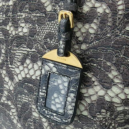Prada(프라다) BL0555 CERVO LUX PRINT TALCO  럭스 사슴레더 패턴 프린팅 금장로고 토트백 이미지4 - 고이비토 중고명품