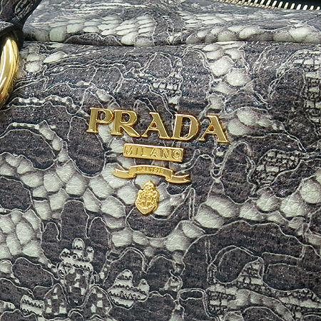 Prada(프라다) BL0555 CERVO LUX PRINT TALCO  럭스 사슴레더 패턴 프린팅 금장로고 토트백 이미지5 - 고이비토 중고명품