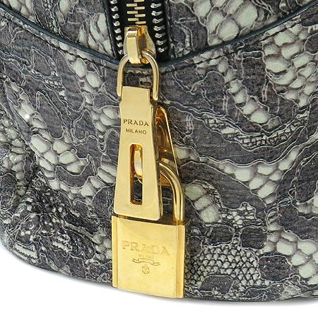 Prada(프라다) BL0555 CERVO LUX PRINT TALCO  럭스 사슴레더 패턴 프린팅 금장로고 토트백 이미지6 - 고이비토 중고명품