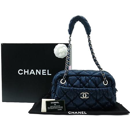 Chanel(샤넬) A47965Y01480 COCO로고 램스킨 클라우디 이펙트 버블 은장 체인 숄더백 [명동매장]