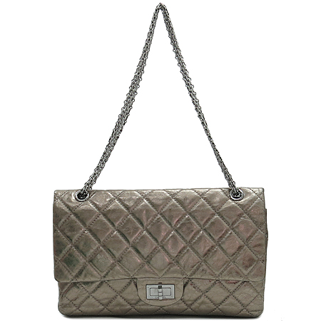 Chanel(샤넬) 2.55 빈티지 메탈릭 골드 L 사이즈 은장 체인 숄더백 [강남본점] 이미지2 - 고이비토 중고명품