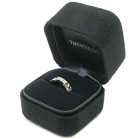Tiffany(티파니) 18K 화이트 골드 아틀라스 3포인트 반지-12호