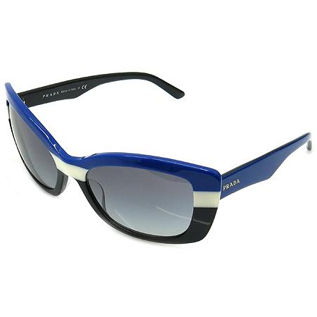 Prada(프라다) SPR03N FRAME BLUE/IVOR 뿔테 선글라스