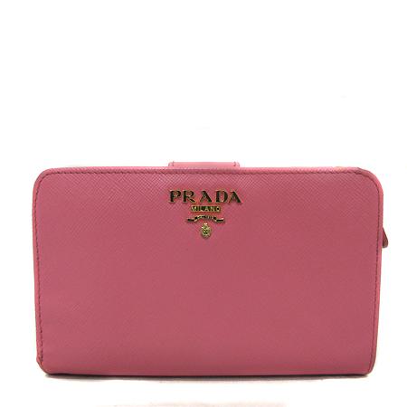 Prada(프라다) 1M1225 금장 레터링 로고 장식 핑크 사피아노 메탈 중지갑 [인천점] 이미지2 - 고이비토 중고명품