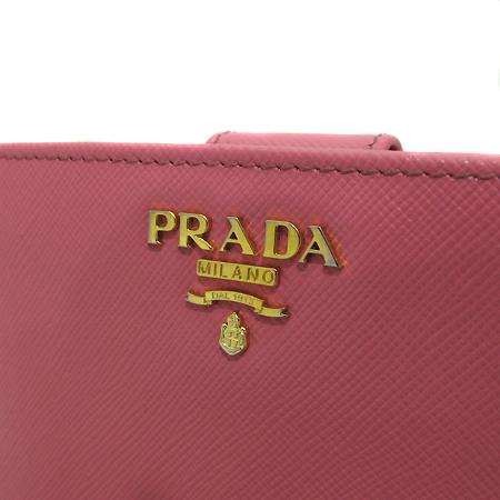 Prada(프라다) 1M1225 금장 레터링 로고 장식 핑크 사피아노 메탈 중지갑 [인천점] 이미지3 - 고이비토 중고명품
