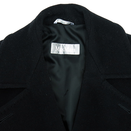 Max Mara(막스마라) 블랙컬러 롱 코트 (허리끈SET)