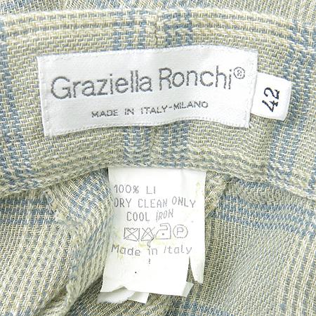 GRAZIELLA RONCHI 체크 마 바지 (MADE IN ITALY)